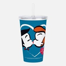 I Love Lucy: Stick Hea Acrylic Double-wall Tumbler
