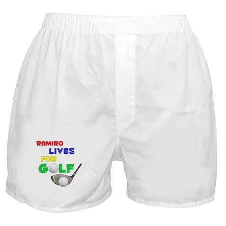 Ramiro Lives for Golf - Boxer Shorts