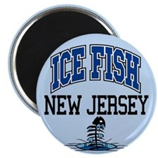 Ice Fish New Jersey Magnet
