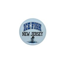 Ice Fish New Jersey Mini Button
