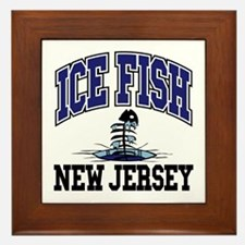 Ice Fish New Jersey Framed Tile