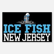 Ice Fish New Jersey Rectangle Decal