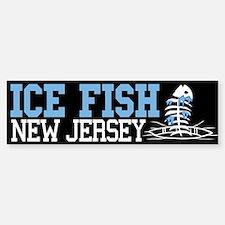 Ice Fish New Jersey Bumper Bumper Bumper Sticker
