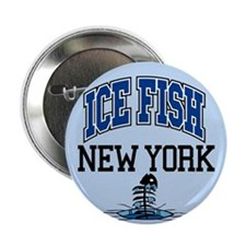 "Ice Fish New York 2.25"" Button (10 pack)"