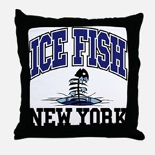 Ice Fish New York Throw Pillow