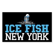 Ice Fish New York Rectangle Decal