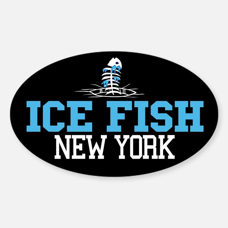 Ice Fish New York Oval Decal