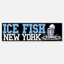 Ice Fish New York Bumper Bumper Bumper Sticker