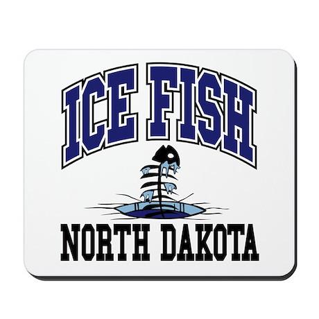 Ice Fish North Dakota Mousepad