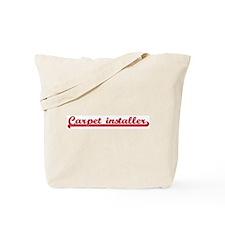 Carpet installer (sporty red) Tote Bag
