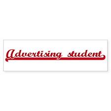 Advertising student (sporty r Bumper Bumper Sticker