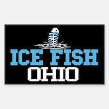 Ice Fish Ohio Rectangle Decal