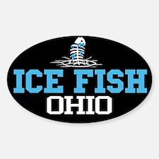 Ice Fish Ohio Oval Decal