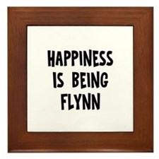 Happiness is being Flynn Framed Tile