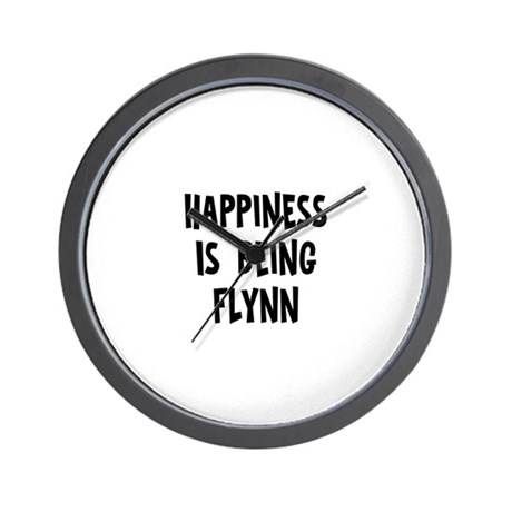 Happiness is being Flynn Wall Clock