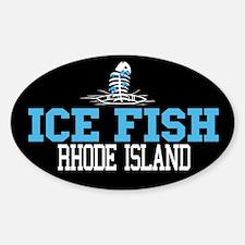 Ice Fish Rhode Island Oval Decal