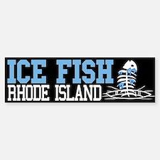 Ice Fish Rhode Island Bumper Bumper Bumper Sticker