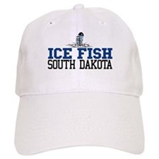 Ice Fish South Dakota Baseball Cap