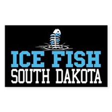 Ice Fish South Dakota Rectangle Decal