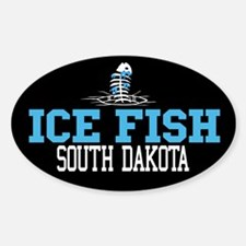 Ice Fish South Dakota Oval Decal