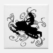 SNOWMOBILE Tile Coaster