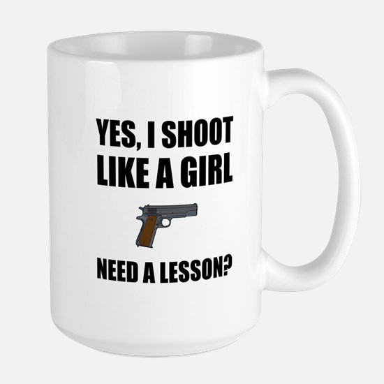 Like A Girl Gun Shoot Mugs