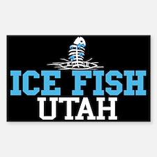 Ice Fish Utah Rectangle Decal