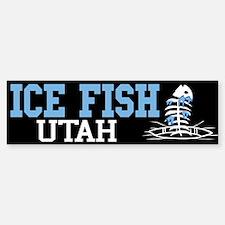 Ice Fish Utah Bumper Bumper Bumper Sticker