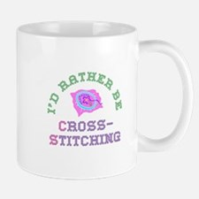 I'd Rather Be Cross-Stitching Mug