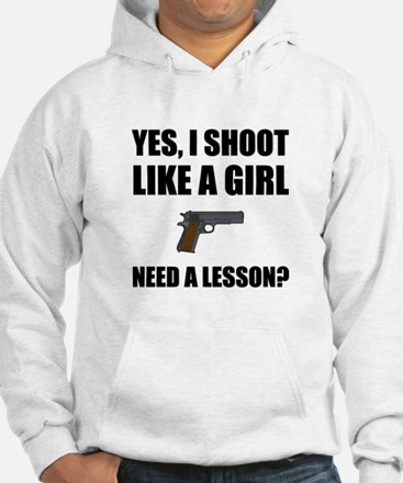 Like A Girl Gun Shoot Sweatshirt