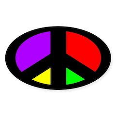 Multicolored Peace Sign (bumper sticker)