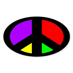 Multicolored Peace Sign (bumper sticker)