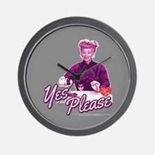 I Love Lucy: Yes Please Wall Clock
