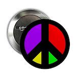 Multicolored Peace Sign (button)