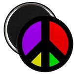 Multicolored Peace Sign Fridge Magnet