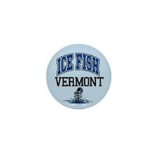 Ice Fish Vermont Mini Button
