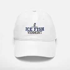 Ice Fish Vermont Baseball Baseball Cap