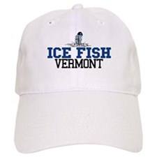 Ice Fish Vermont Baseball Cap