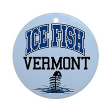 Ice Fish Vermont Ornament (Round)