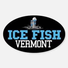 Ice Fish Vermont Oval Decal