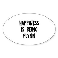 Happiness is being Flynn Oval Decal