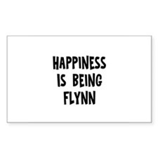 Happiness is being Flynn Rectangle Decal