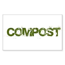 COMPOST Rectangle Bumper Stickers
