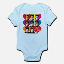 I Love Lucy: Headshot Hearts Infant Bodysuit