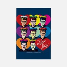I Love Lucy: Headshot Hearts Rectangle Magnet