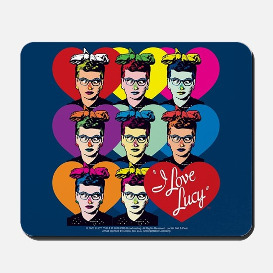 I Love Lucy: Headshot Hearts Mousepad