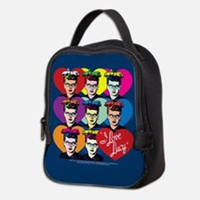 I Love Lucy: Headshot Hearts Neoprene Lunch Bag