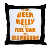 Beer Belly Throw Pillow