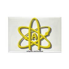 Golden A-Theist Symbol Rectangle Magnet (10 pack)