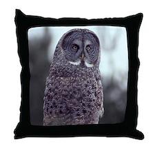 Great Gray Owl Throw Pillow